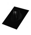 Solin 30 à 45° inox & noir - DIAM 100