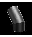 Coude 45° + regard Ferrolux Noir Ø 200mm